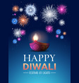 happy diwali traditional indian lights hindu vector image vector image