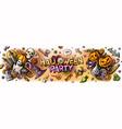 happy halloween cartoon vector image