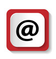 icon mail address vector image vector image