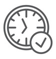 in-time line icon watch and countdown clock sign vector image vector image