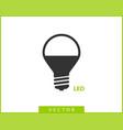 light bulb icon llightbulb idea logo concept vector image vector image