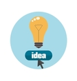 Lightbulb idea concept vector image vector image