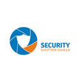 logo of the company of video surveillance vector image