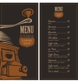 menu for a cafe shop vector image vector image