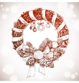 Merry Christmas and Happy New Year holidays vector image vector image
