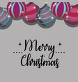 merry christmas decoration style to celebration vector image