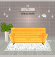 modern living room yellow sofa watercolor vector image vector image