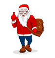 modern santa claus come walk and show thumb up vector image vector image