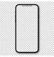 new design smartphone with blank screen vector image vector image