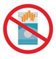 no smoking flat icon vector image