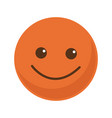 orange smile emoticon button icon vector image vector image