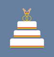 same sex wedding cake vector image vector image