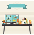 Science concept in flat design style vector image vector image