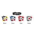 set national football team group g vector image