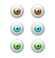 Set of colorful eyes Brown blue green eye vector image vector image