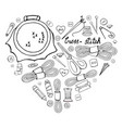 set of hand drawn black and white elements for cro vector image vector image