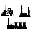 set of industry icon silhouettes vector image vector image