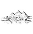 seven wonders ancient world great pyramid vector image