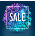 shiny glowing sale vector image vector image