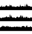 silhouettes of european city vector image vector image