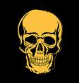 skull t-shirt design tattoo art vector image vector image