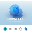 Snowflake icon in different style vector image vector image