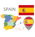 spain administrative divisions vector image