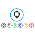 square hole map marker rounded icon vector image