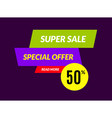 Super sale banner design template best offer vector image