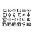 time and watch icon set vector image vector image