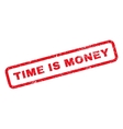 time is money rubber stamp vector image vector image