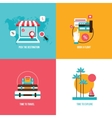 Travel tourism vacation banner set Holidays on the vector image vector image