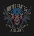 united states soldier army veterans logo symbol vector image vector image