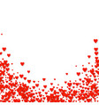 valentines pattern card with red falling heart vector image vector image