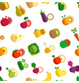 vegetable and fruits organic food seamless pattern vector image vector image