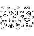 wi-fi icon seamless pattern vector image