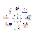 woman daily schedule female activities every day vector image