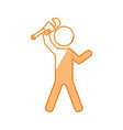 worker with wrench pictogram vector image vector image
