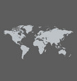 world map sign and icon isolated on grey vector image vector image