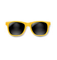 yellow sunglasses with white background vector image vector image