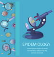 microscope and microbes vector image