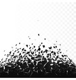 abstract cloud pieces and fragments after vector image vector image