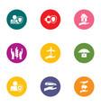 advocacy icons set flat style