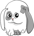baby bunny cartoon vector image vector image