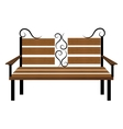 Bench or wooden chair icon design vector image vector image