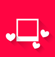 blank photo frame with hearts for Valentine Day - vector image