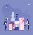 business team creating packaging-packaging design vector image