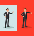 businessman with approval and disapproval vector image vector image