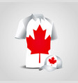 canada flag shirts design vector image