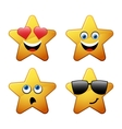 Characters of yellow star emoticon vector image vector image